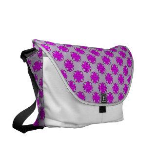 Purple Clover Ribbon Courier Bag