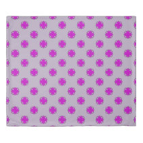 Purple Clover Ribbon Duvet Cover