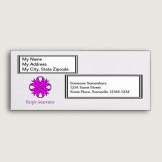 Purple Clover Ribbon Envelope