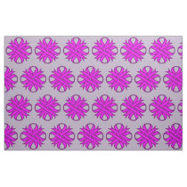 Purple Clover Ribbon Fabric