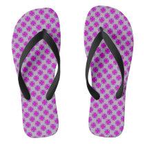 Purple Clover Ribbon Flip Flops