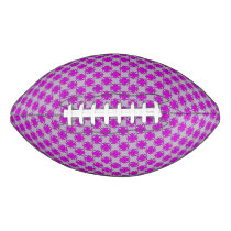 Purple Clover Ribbon Football