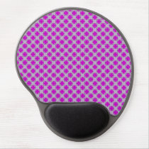 Purple Clover Ribbon Gel Mouse Pad