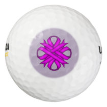 Purple Clover Ribbon Golf Balls