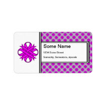 Purple Clover Ribbon Label