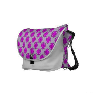 Purple Clover Ribbon Messenger Bag