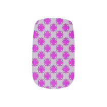 Purple Clover Ribbon Minx Nail Wraps