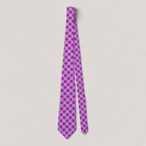 Purple Clover Ribbon Neck Tie