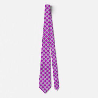 Purple Clover Ribbon Neck Tie