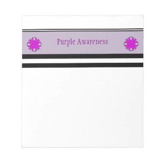 Purple Clover Ribbon Notepad