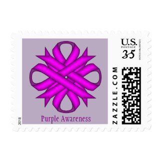 Purple Clover Ribbon Postage