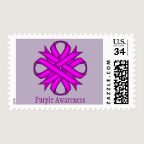 Purple Clover Ribbon Postage