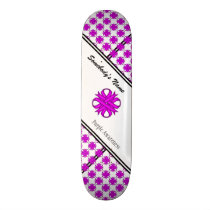 Purple Clover Ribbon Skateboard Deck