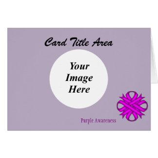Purple Clover Ribbon Template