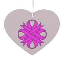 Purple Clover Ribbon Template Air Freshener