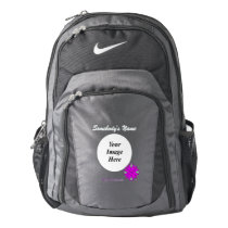 Purple Clover Ribbon Template Backpack