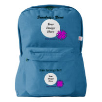 Purple Clover Ribbon Template by Kenneth Yoncich American Apparel™ Backpack