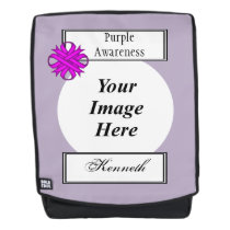 Purple Clover Ribbon Template by Kenneth Yoncich Backpack