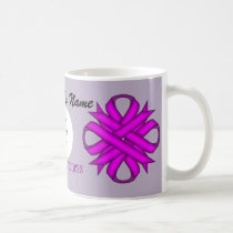 Purple Clover Ribbon Template by Kenneth Yoncich Coffee Mug