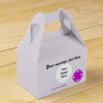 Purple Clover Ribbon Template by Kenneth Yoncich Favor Box
