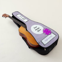 Purple Clover Ribbon Template by Kenneth Yoncich Guitar Case