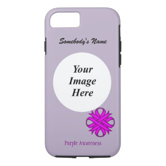 Purple Clover Ribbon Template by Kenneth Yoncich iPhone 7 Case