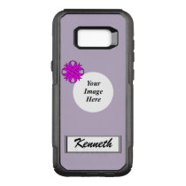 Purple Clover Ribbon Template by Kenneth Yoncich OtterBox Commuter Samsung Galaxy S8  Case