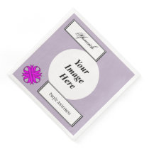 Purple Clover Ribbon Template by Kenneth Yoncich Paper Dinner Napkin