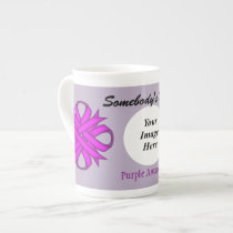 Purple Clover Ribbon Template by Kenneth Yoncich Tea Cup