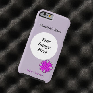 Purple Clover Ribbon Template by Kenneth Yoncich Tough iPhone 6 Case