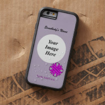 Purple Clover Ribbon Template by Kenneth Yoncich Tough Xtreme iPhone 6 Case