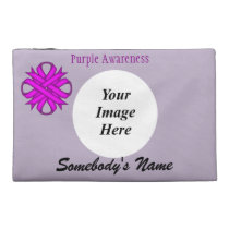 Purple Clover Ribbon Template by Kenneth Yoncich Travel Accessory Bag