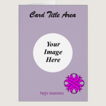Purple Clover Ribbon Template Card