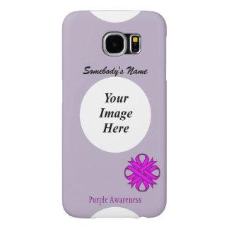 Purple Clover Ribbon Template Samsung Galaxy S6 Cases