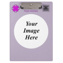 Purple Clover Ribbon Template Clipboard
