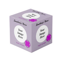Purple Clover Ribbon Template Cube