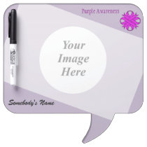 Purple Clover Ribbon Template Dry Erase Board