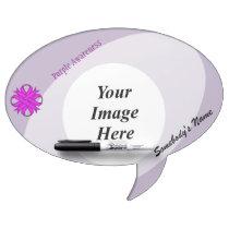 Purple Clover Ribbon Template Dry Erase Board