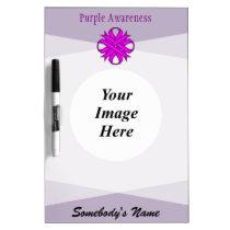 Purple Clover Ribbon Template Dry-Erase Board