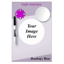 Purple Clover Ribbon Template Dry Erase Board With Mirror