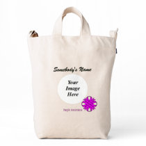 Purple Clover Ribbon Template Duck Bag