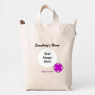 Purple Clover Ribbon Template Duck Bag