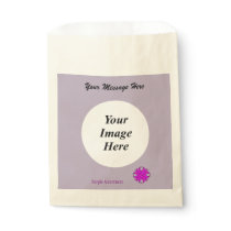 Purple Clover Ribbon Template Favor Bag