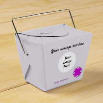Purple Clover Ribbon Template Favor Box