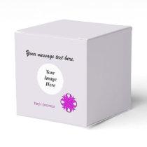 Purple Clover Ribbon Template Favor Box