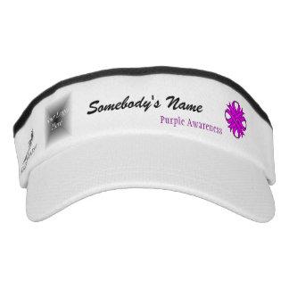 Purple Clover Ribbon Template Headsweats Visor