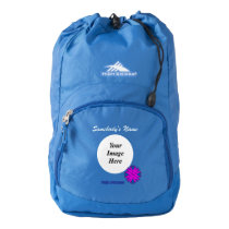 Purple Clover Ribbon Template High Sierra Backpack