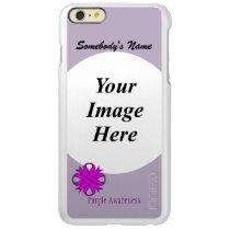 Purple Clover Ribbon Template Incipio Feather Shine iPhone 6 Plus Case