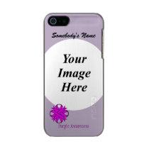 Purple Clover Ribbon Template Metallic Phone Case For iPhone SE/5/5s