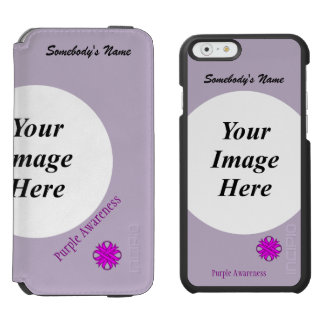 Purple Clover Ribbon Template iPhone 6/6s Wallet Case